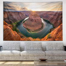 Load image into Gallery viewer, Sunset Bend by Third Eye Tapestries