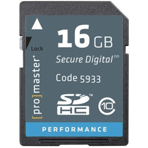 Promaster PerformanceSDHC 16GB Memory Card