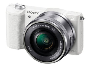 Sony a5100 Mirrorless Digital Camera with 16-50mm Lens (White)