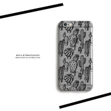 Load image into Gallery viewer, Monochrome Cactus - Clear Case Cover