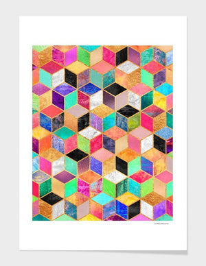 Colorful Cubes  Frame