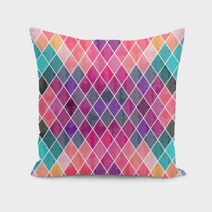 Watercolor Geometric Patterns II  Cushion/Pillow