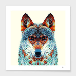 Wolf - Colorful Animals  Cushion/Pillow