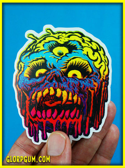 Skull Brain Sticker!