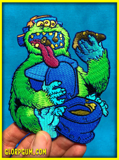 GLORP Poopie Monster Patch