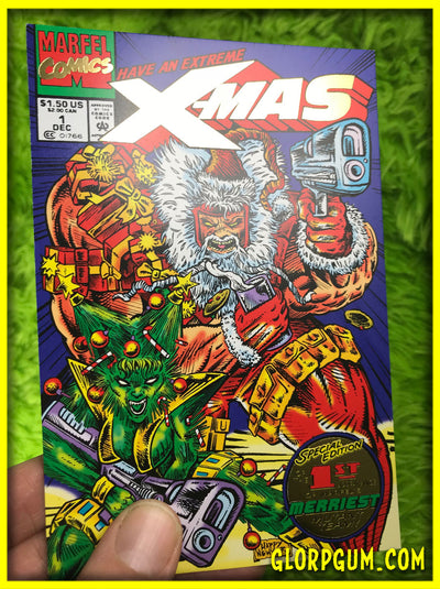 Extreme X-MAS #1 Special Gold Foil Collectors Edition Holiday Cards!