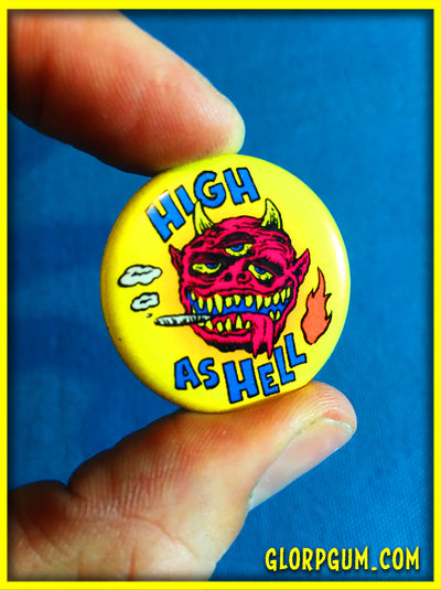 GLORP Funny Phrases Button Set