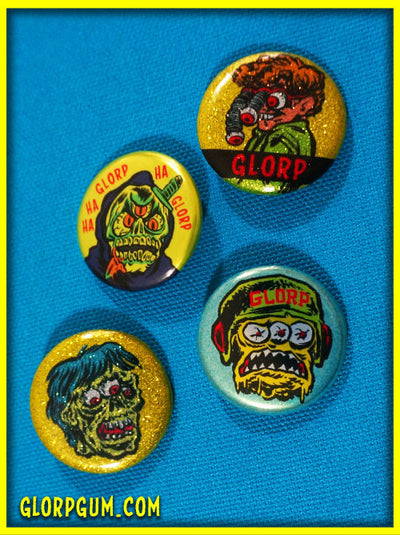 GLORPNIK Gross-Oh's Button Set!