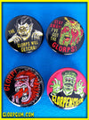 Gamma GLORP Glow in the Dark Monster Buttons!