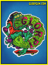 1980's GLORP Gut Punch Sticker!