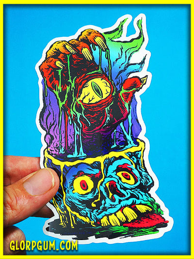 The eye of the demon hand sticker!