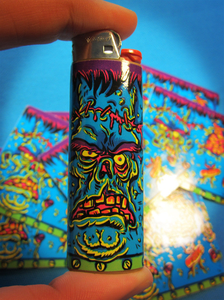 Frankenstein Lighter Sticker