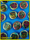 GLORP Metallic Monsters Button Set 3 (Golden Ghouls!)