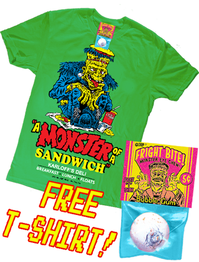 GLORP Fright Bite! (with FREE MONSTER SANDWICH T-Shirt)