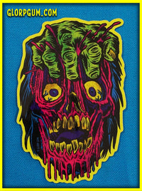 GLORP Gory Ghoul Sticker: FIST FACE