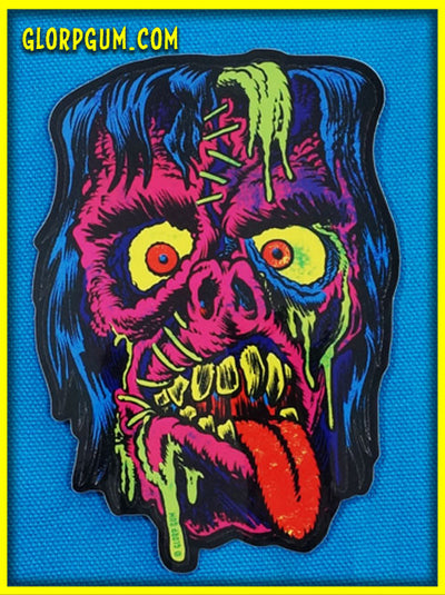GLORP Gory Ghoul Sticker KILL-ROY