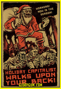 Sweatshop Santa Holiday Cards