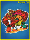 1980's GLORP Skate Ape Sticker
