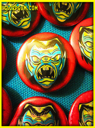 GLORP Metallic Monsters Button Set!