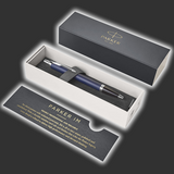 Personalised Parker IM Blue Chrome