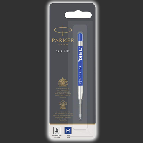 Parker Quink GEL Pen Refill, BLUE Ink