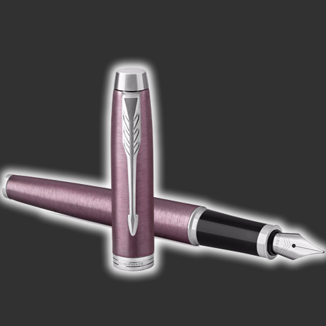 Personalised Parker IM Light Purple Fountain Pen