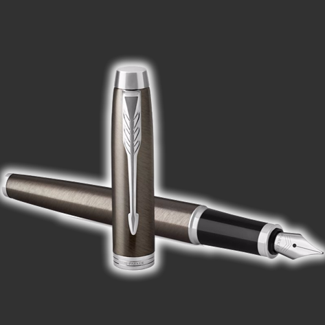 Personalised Parker IM Dark Espresso Fountain Pen
