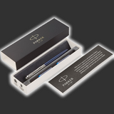 Personalised Parker Jotter Royal Blue Fountain Pen