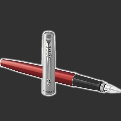 Personalised Parker Jotter Kensington Red Fountain Pen