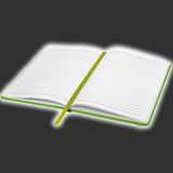 Lime Green Notebook - A6 or A5 Size