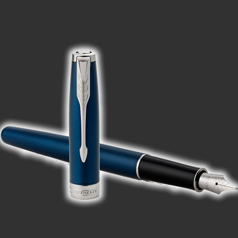 Personalised Parker Sonnet Blue Fountain Pen