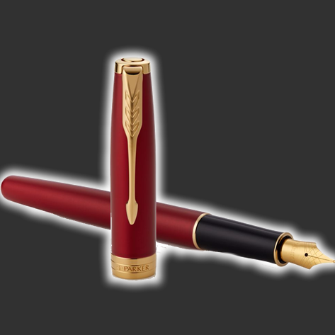 Personalised Parker Sonnet Red Fountain Pen