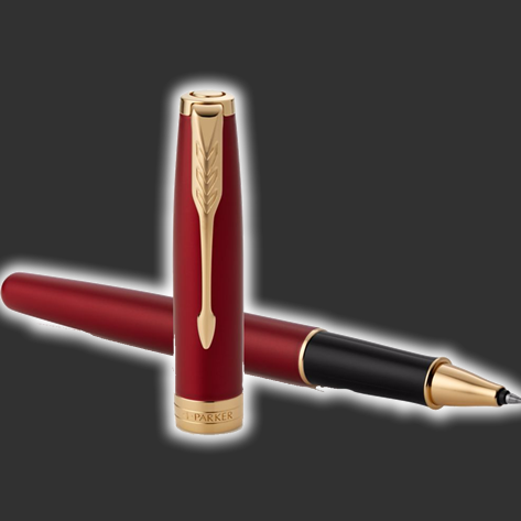 Personalised Parker Sonnet Red Rollerball Pen