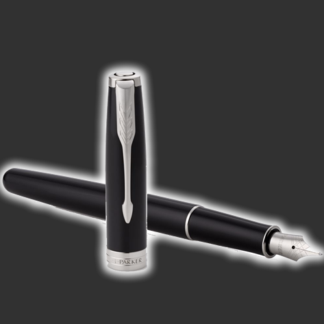 Personalised Parker Sonnet Black Fountain Pen