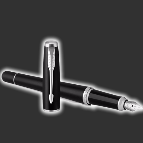 Personalised Parker Urban Muted Black Fountain Pen