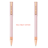 (Multibuy offer) x2 Pink Quartz Ballpoint Ted Baker Pen