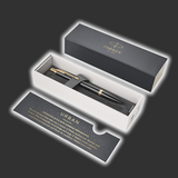 Personalised Parker Urban Black Gold Trim