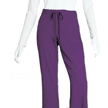 Grey's Anatomy™ Signature Series 5-Pocket Drawstring Scrub Pant (Cabernet Heather)