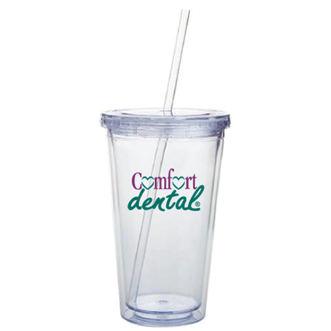 Acrylic Tumbler with Straw (Pack of 24)