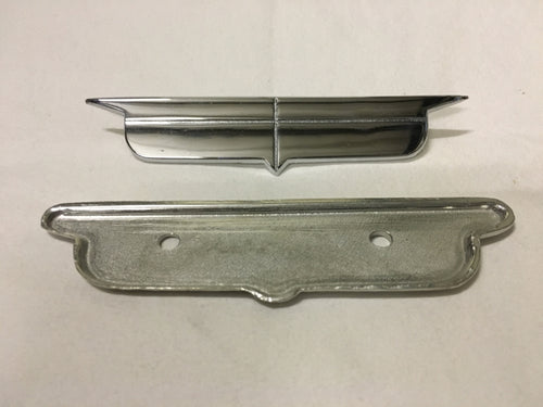 1957 Eldorado Seat Crest w/ Backing Plate