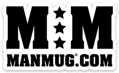 Man Mug Die Cut Sticker