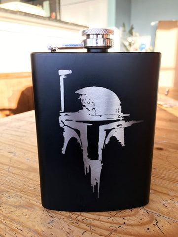 Boba Fett Mandalorian Stainless Steel hip flask