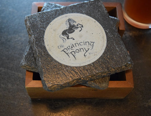 Prancing Pony  Slate Coasters Set of 4, , from Fellowship of the Ring, LOTR