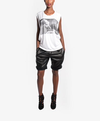 Rolled Leather Shorts (pre-order)