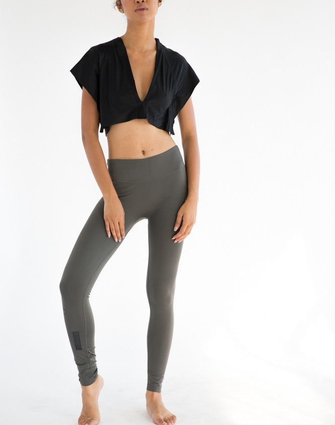 gray slim leggings