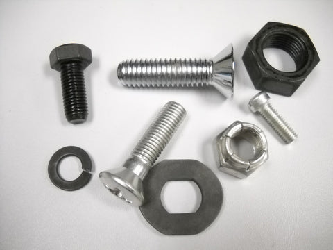 Parkerized Cad & Chrome Hardware Nuts, Bolts, Rivets And More