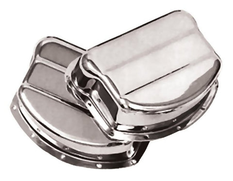 "17500-48 Old 1723-48 Panhead Rocker Arm ""Pan"" Cover Set Chrome"