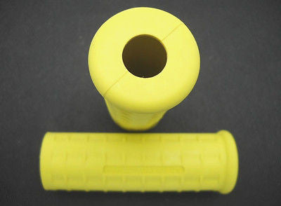 56212-53Y USA MADE PANHEAD YELLOW GRIPS 1954-1961 CORRECT SMALL HOLE