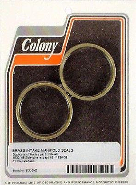 27057-30 OLD 1118-30 BRASS INTAKE SEAL 36-39 KNUCKLEHEAD COLONY 8006-2