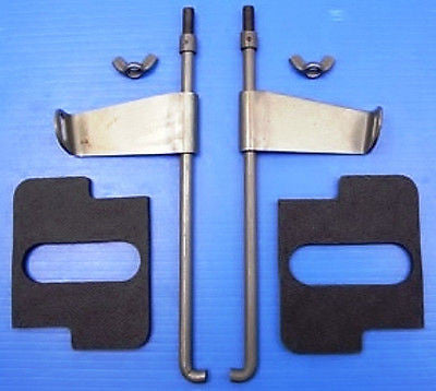 66390-36R/93-36R KNUCKLEHEAD PANHEAD FLATHEAD PARKERIZED BATT ROD HOLD DOWN KIT